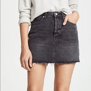 Free People Rugged A-Line Denim Skirt | size 25